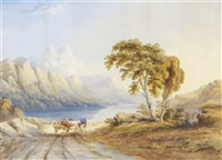 cattle in landscape, cumberland by john e. bosanquet