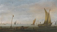 small vessels on the zuider zee by abraham de verwer