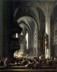 frühmesse in der stiftskirche zu berchtesgaden by johann friedrich hennings