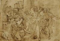 jésus et la cananéenne by nicolas colombel
