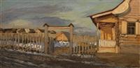 early spring by leonard (leonid) viktorovich turzhansky
