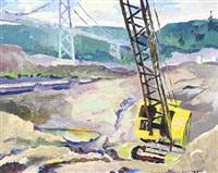 yellow crane: by orestes (rick) nicholas de grandmaison
