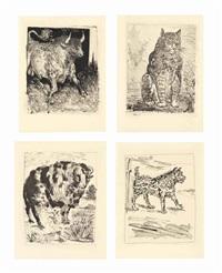 eaux-fortes originales pour des textes de buffon, martin fabiani, paris, 1942 (set of 31) by pablo picasso