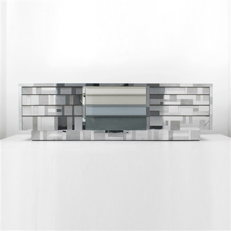 cityscape cabinetcredenza with 12 drawers by paul evans