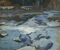 stream in winter by alexander rapp