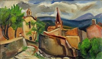 l'église du village by andré favory