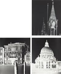 (i) towers san marco, venice: november 22, 2005; (ii) ca del duca sforza, venice: march 1, march 2006, 2006; (iii) corte barozzi, venice... (3 works) by vera lutter