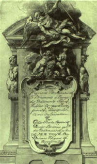 design for a frontispiece by gilles-marie oppenort