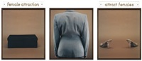 shoe lover 3 (triptych) by lorna simpson