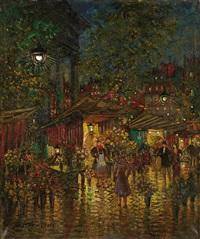 le marché aux fleurs, place de la madeleine à paris by alexei konstantinovich korovin