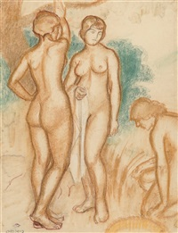 baigneuses by georges lemmen