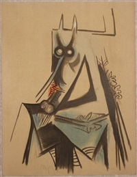 les vaches sont maigres en haiti by wifredo lam