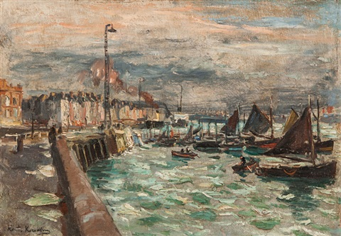 the harbor by konstantin alexeievitch korovin