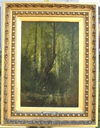 a rider in the forest by hippolyte alizone