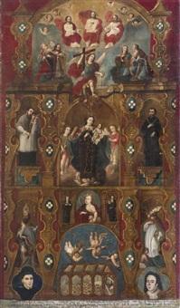 virgen del carmen (acompañada por el arcángel san ragael y el ángel de la guarda) by anonymous-mexican (18)