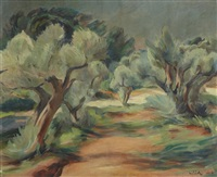 paysage by abram adolphe milich