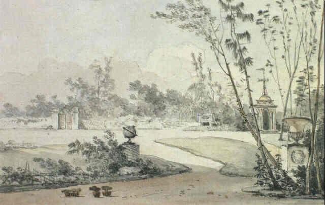Un jardin a langlaise decore dune pagode dune vasque et - Jardin a l anglaise ...