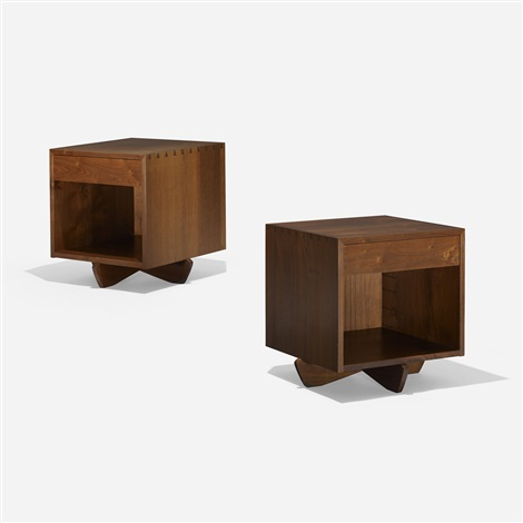 swett nightstands pair by george nakashima