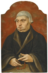 portrait of a cleric, half length, holding a rosary by german school (16)