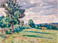 pâturages des granges, crozant by armand guillaumin