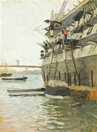disembarking from h.m.s. victory by james jacques joseph tissot