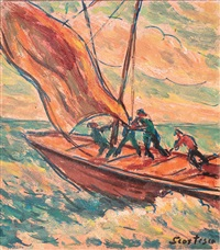 cu barca în larg by paul scortesco