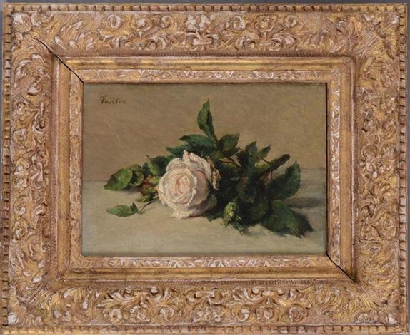 white rose by henri fantin latour
