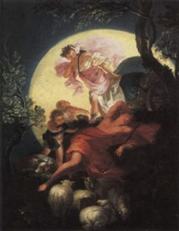 the sleeping endymion by françois (le moine) le moyne