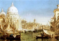a view along the grand canal with santa maria della salute by henry courtney selous