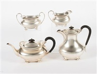 tea set (set of 4) by atkin brothers