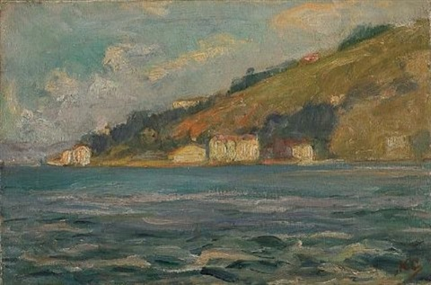 view of poros by nicholaos othoneos