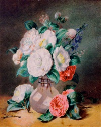 flowers in a glass vase by valentine bartholomew