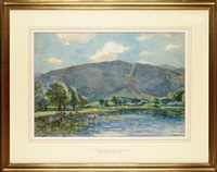 a summer afternoon in the lake district by john atkinson