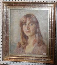 portrait einer jungen dame by oskar hagemann