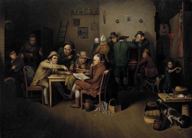 the village politicians by john lewis krimmel