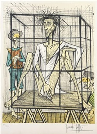 don quichotte en cage by bernard buffet