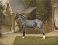 a horse in a garden by william alfred clark
