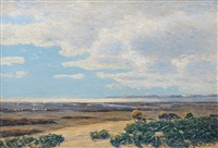 sheep on sylt by franz korwan