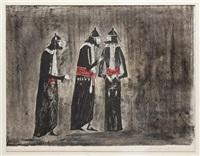 the judges, de la serie the dybbuk by leonora carrington