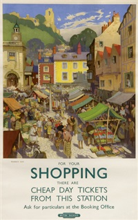 shopping, british railways by jack merriott
