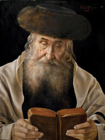 rabbi with fur hat by otto eichinger