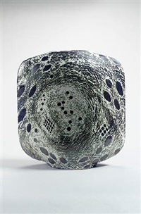 nebulae 2 - a large flattened square vase by james tower