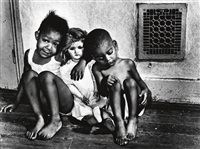 children with doll by gordon parks