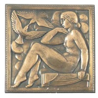 femme aux colombes by marcel claude renard