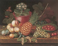 still life of fruit and plants by richard smith