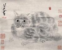 猫 by bada shanren