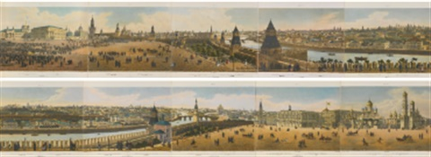 panorama of moscow on 10 joined sheets after indeisseff by benoist and aubrun