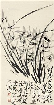 兰花 立轴 纸本 by xu linlu