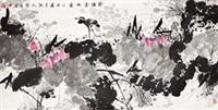 荷塘春雨图 by deng weidong