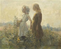 children in a field by adam emory albright